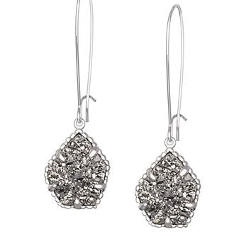 Cathy Earrings in Platinum Drusy - Kendra Scott Jewelry