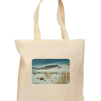 CO Snow Scene Grocery Tote Bag