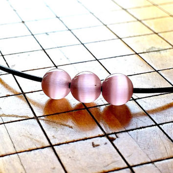 "Pink Opal Necklace, Minimalist Leather Necklace, Hipster Mexican Opal and Leather Choker, Free Shipping,18"" adjustable necklace"