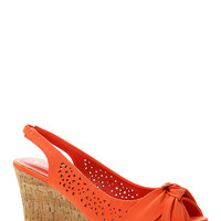 Knotted Cut Out Cork Wedges