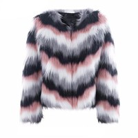 Iris fluffy fur coat