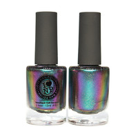 Sirène (H) - *AMAZING* Green, Blue, Violet, Red, Gold Color Shifting Holographic Ultra Chrome Nail Polish