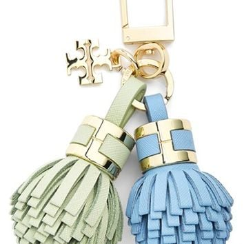 Women's Tory Burch 'York' Tassel Key Chain - Beige