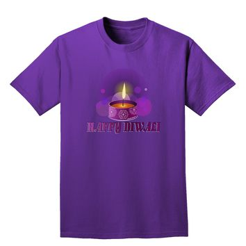 Happy Diwali Purple Candle Adult Dark T-Shirt by TooLoud
