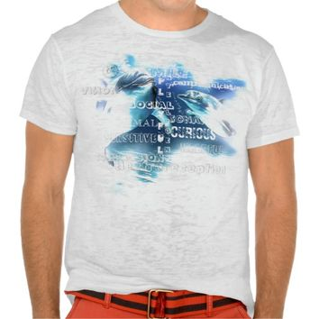 Canvas Fitted Burnout T-Shirt, Amazing Dolphins T-Shirt