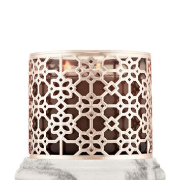 Rose Gold Marble 3-Wick Candle Sleeve | Bath And Body Works