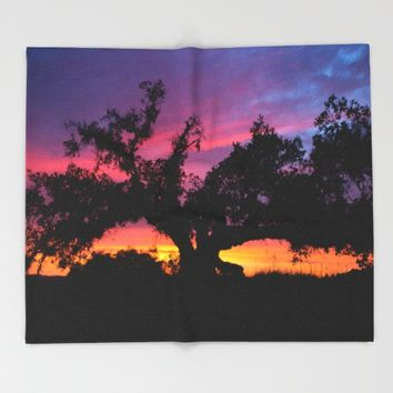 SunseT at the Tree of Knowledge Throw Blanket by 2sweet4words Designs