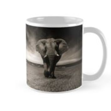 'Elephant in Black and White' Mug by Creative-World