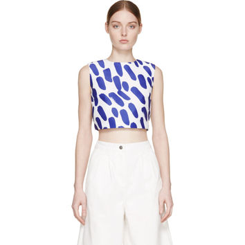 Cobalt Spotted Cropped Top