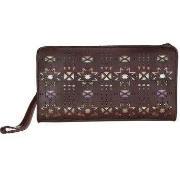 Pendleton Laser Cut Leather Clutch