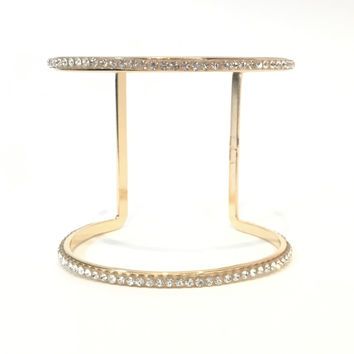 Crystal Popping Bangle Bracelet In Gold