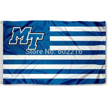 MTSU Blue Raiders Nation College Large Outdoor Flag 3ft x 5ft Football Hockey Baseball USA Flag
