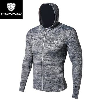 Men Running Training Jacket Running Sweater Hooded Fitness Sport Coat Soccer jersey outdoor Gym  Sport jacket Gym running jersey