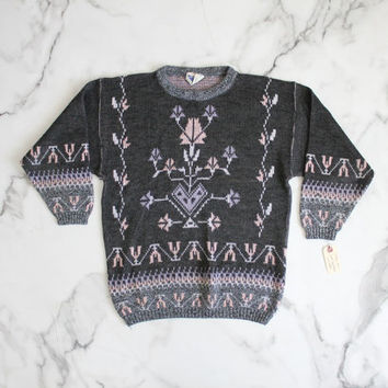 southwestern sweater / pastel sweater / southwest sweater