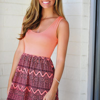 Gettin Ziggy With It Dress: Coral | Hope's