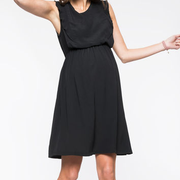 Black Madeleine Maternity Dress
