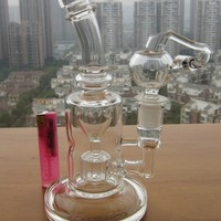 FC glass Torus bong Recycle glass bongs oil rigs glass bongs sturdy smoking water pipes joint size 14.4mm FC5015