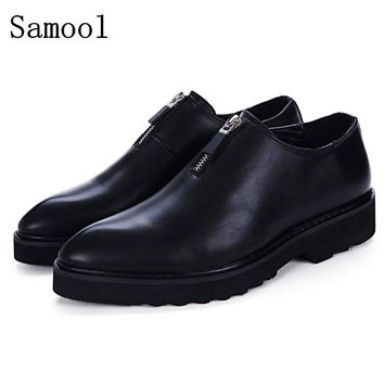 2017 Autumn Winter Genuine Leather Business Shoes Male Casual Shoes Slip On Lazy Men Flats Shoes Moccasins Men Loafers Shoes