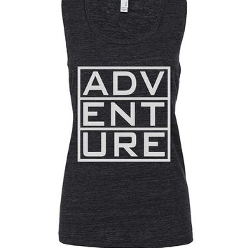adventure workout tank workout top workout womens workout shirts workout clothes gym tank gym shirts fitness tank motivation activewear