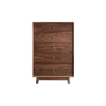Concise Cherrywood Drawers 23.6'' Wide Storage Cabinet