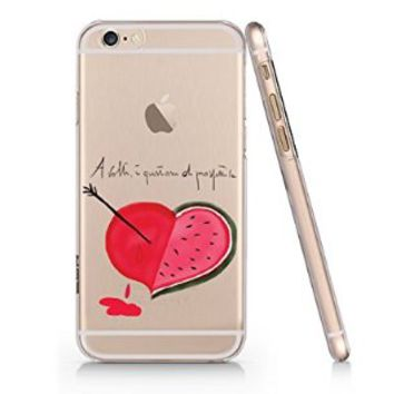 Text Watermelon Pattern Iphone 6 case, Iphone 6 Case Slim White Cover Skin (4.7'' Screen) (LA029)