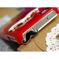OOOUSE Cute Mustache 3.5mm Earphone Jack Dustproof Plug Ear Dust Cap for iPhone 5 4 4S