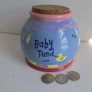 Baby Fund Piggy Bank Savings Bank Baby Shower Gift Idea Baby Piggy Bank Coin Bank