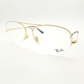 Ray Ban 6589 2500 Gold 59mm New Eyeglass Frame Authentic