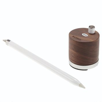 SAMDI Wooden Mini Charger & Holder for Apple iPad Pro Pencil Charger Dock Stand