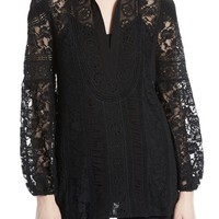 Alice + Olivia Jill Embroidered Tunic | Nordstrom