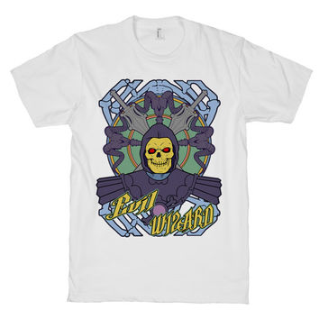 Evil Wizard Skeletor, geeky, Masters Of The Universe, shirt, skeleton, He-man, White American Apparel T Shirt