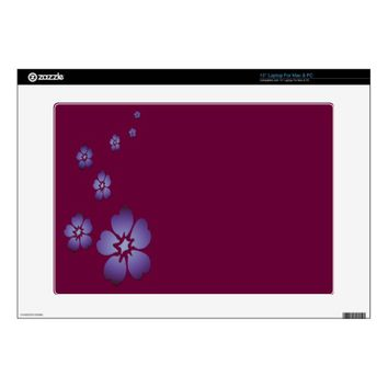 Purple Flowers Decals For Laptops