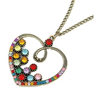Fashion New Vintage Heart Pendants Necklaces