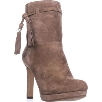 Via Spiga Bristol Pull On Tassel Ankle Boots, Dark Taupe, 7.5 US / 37.5 EU