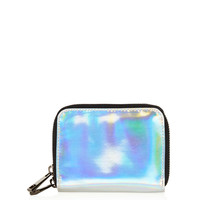 Holographic Double Zip Purse - New In This Week - New In - Topshop