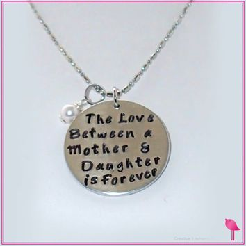 The Love Between a Mother & Daughter is Forever Bling Chicks Necklace