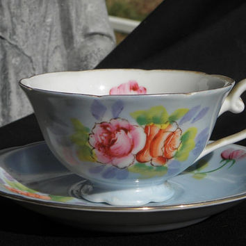 Occupied Japan Hand Painted Cup & Saucer