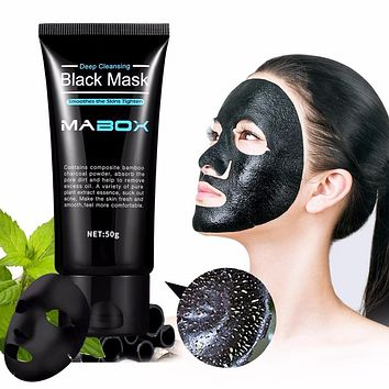 Mabox Deep Mask Peel Off Bamboo Charcoal Purifying Blackhead Remover Mask