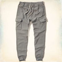Hollister Fleece Cargo Jogger Pants