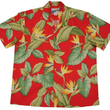 Men's Airbrush Birds of Paradise (BOP) Hawaiian Shirt