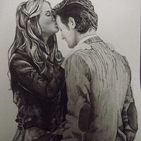 Amy Pond and the Doctor full drawing