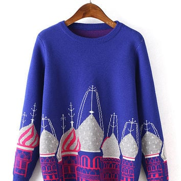 Russian Cathedral Print Sweater