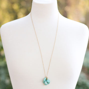 Cluster Necklace - Turquoise