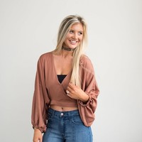 Lumi Top- Rust - These Three Boutique