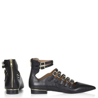 KAPPACINO Leather Buckle Shoe - Topshop