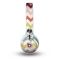 The Vintage Summer Colored Chevron V4 Skin for the Beats by Dre Mixr Headphones