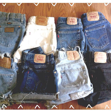 Mystery Vintage High Waisted Denim Shorts