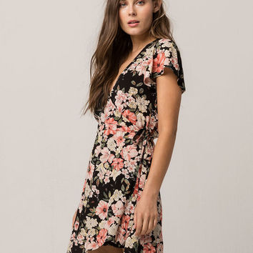 BILLABONG Glass Water Wrap Dress
