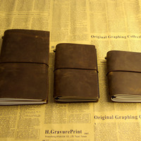 Diaries Journals notebook genuine leather vintage hand book D20141029
