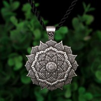 Mandala Necklace Yoga Zen Buddhism Meditation Art Geometry Amulet